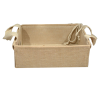 LINEN WEAVE TRAY with HANDLES-Extra Small