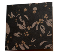 GIFT CARD OZ FOLIAGE-Black/Gold/White on Natural Kraft