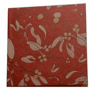 GIFT CARD OZ FOLIAGE-Scar/Gold/White on Natural Kraft