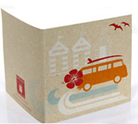 GIFT CARD COMBI KRAFT-Tang/Scarlet/Tiffany/White