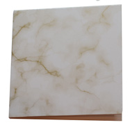 GIFT CARD MARBLE STONE-Gold on White card