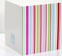 GIFT CARD MULTI STRIPES-Candy Pink/Tiffany/Scarlet