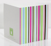 GIFT CARD MULTI STRIPES-Lime/Tiffany/Candy Pink