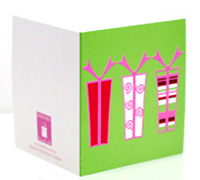 GIFT CARD PRESENTS-Lime/Scarlet/Candy Pink