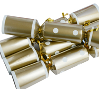 CHRISTMAS CRACKERS w/SPOTS- Gold/White