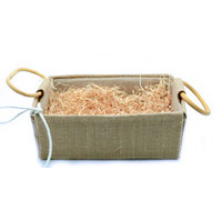 JUTE HAMPER TRAY with HANDLES-Extra Small