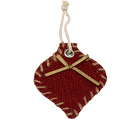 JUTE DECO BAUBLE-Red