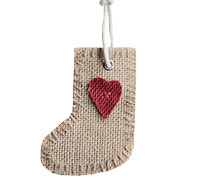 JUTE DECO XMAS BOOT-Natural