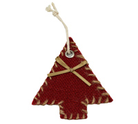 JUTE DECO XMAS TREE-Red