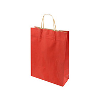 GIFT PAPER BAG-Red Natural Kraft SMALL