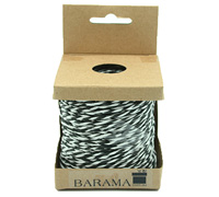 2mm T TONE PAPER STRING-Black/White