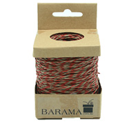 2mm T TONE PAPER STRING-Red/Taupe