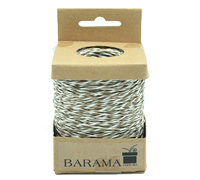 2mm T TONE PAPER STRING-Taupe/White