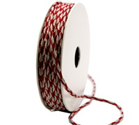 4mm SOUTACHE CORD-Red/Natural