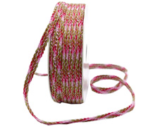 9mm INDIAN WOVEN BRAID-Rose Pink Tones