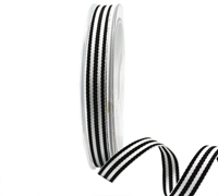 10mm CLASSIC STRIPE-Black/White