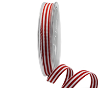 R10mm CLASSIC STRIPE-Red/White