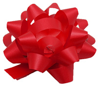 10mm SATIN TEAR BOW(6.5)-Red