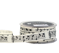 22mm C/TAPE MUSICAL NOTES-Natural Tape