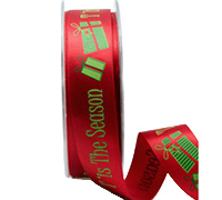 22mm SEASONS GREETINGS-Red/Green