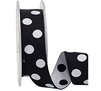 25mm DOUBLE SIDED SPOTS-White/Black