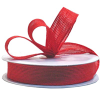 25mm JUTE RIBBON-Red