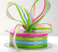 25mm SUNNY STRIPE-Pink/Lime