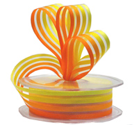25mm SUNNY STRIPE-Yellow/Orange