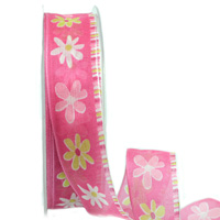 25mm W/E SUNNY FLOWER-Hot Pink