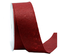 38mm CE FELT RIBBON-Deep Red