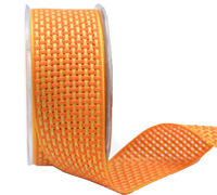 38mm COLOUR WEAVE -Orange/Yellow