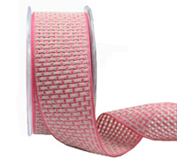 38mm COLOUR WEAVE -Pink/Taupe