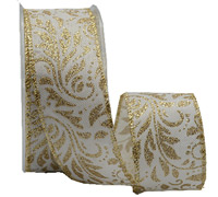 38mm FLORENTINE GLITTER-White/Gold