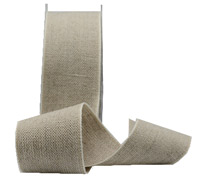 38mm LINEN WEAVE-Natural/White