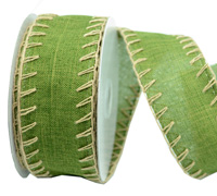 38mm W/E BLANKET STITCH-Moss/Natural