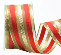 38mm W/E METALLIC BANDS -Gold/Red