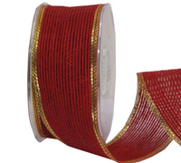 38mm W/E JUTE with MET-Red/Gold