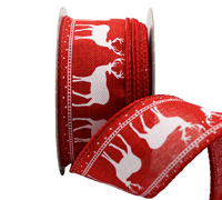 38mm NORDIC REINDEER-Red/White