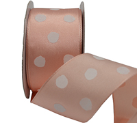 38mm WHITE SPOTS w/GLITTER-Peach