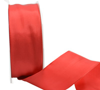 40mm WIRED PLAIN TAFFETA-Red