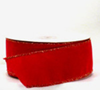 50mm VELVETEEN-Red