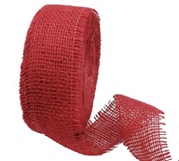 55mm C/E JUTE WEBBING Single Weft-Red