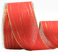 50mm W/E WOVEN MET FLASH-Red/Gold