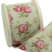 70mm VINTAGE LOOK ROSES-Natural/Rose Pink