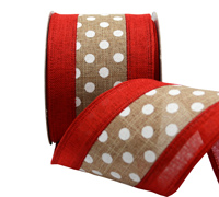 63mm NATURL SPOTS w/BORDER-Natural/Red/White