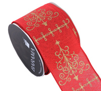 R63mm W/E XMASTREE W/GL-Red/Gold