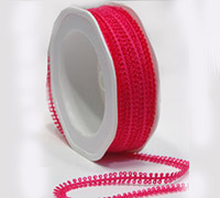 7mm PICOT EDGE TRIM-Hot Pink