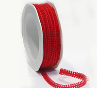 7mm PICOT EDGE TRIM-Red