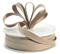 10mm COTTON TAPE-Taupe