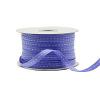 5mm GROSGRAIN STITCH-Lavender/White